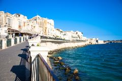 Ortigia view during a summer day Stock Photos
