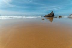 Ortigueira, praia de Sarridal Fotos de Stock