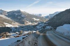 Ortisei,白云岩,北意大利 免版税库存照片