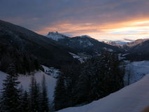 Ortisei and Dolomites  Royalty Free Stock Image