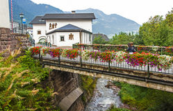 Ortisei em Val Gardena (Italy) foto de stock