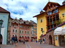 Ortisei street Royalty Free Stock Images
