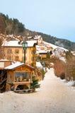 Ortisei town Stock Image