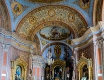 ORTISEI, TRENTINO/ITALY - MARZEC 26: Wewnętrzny widok parafia zdjęcie royalty free