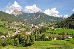 Ortisei in Val Gardena, Tirolo del sud, dolomia Immagini Stock