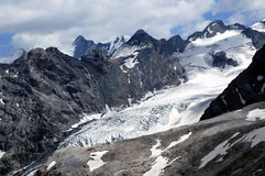 The Ortles glacier, Bolzano - Italy. The Ortles group and glacier in the italian alps, Bolzano - Italy Stock Photos