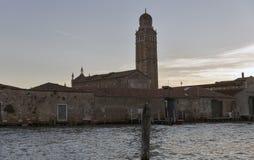 ` Orto de vallon de Madonna de della d'église au coucher du soleil à Venise, Italie Image stock