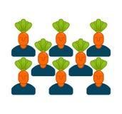 Orto dell'ufficio Responsabile delle carote Departme di verdure illustrazione vettoriale