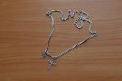 Ortodoksa krzyż z łańcuchem zdjęcie royalty free