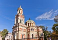 Ortodoksalna Aleksander Nevsky katedra w Łódzkim, Polska (1884) Obrazy Stock