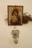 Ortodoksalna Chrześcijańska ikona Maria i Jezus Fotografia Royalty Free