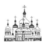 Ortodoksalna katedra ilustracja wektor