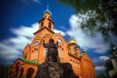 Ortodoksalna parafia St Seraphim Sarov obraz stock
