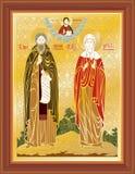 Ortodoksalnej ikony wektorowa kościelna wiara Obraz Royalty Free