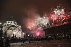 Ortodoksalni nowy rok wigilii świętowania Fotografia Royalty Free
