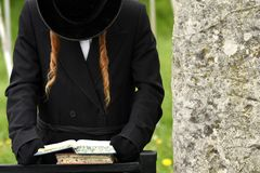 Ortodoksalny Żydowski ono modli się, żyd, judaism, hasidim obrazy stock