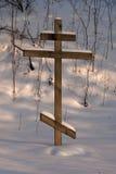 Ortodoksalny drewniany krzyż Zdjęcia Royalty Free
