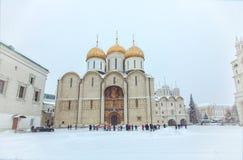 Ortodoksalny katedralny Uspenskiy w Kremlin Obraz Royalty Free