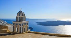 Ortodoksalny kościół na Santorini wyspie obraz stock