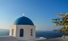 Ortodoksalny kościół na Santorini wyspie zdjęcie stock