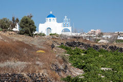 Ortodoksalny kościół Thira Santorini Grecja Obrazy Royalty Free