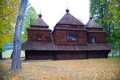 Ortodoksalny kościół w Bieszczady zdjęcia royalty free