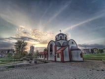Ortodoksalny kościół w NiÅ ¡ obraz royalty free