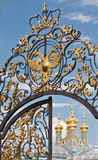 Ortodoksalny kościół w Pushkin, Catherine pałac Obraz Stock