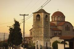 Ortodoksalny kościół w starym mieście Stavros Zdjęcia Stock