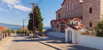 Ortodoksalny kościół w Stavros Obraz Stock