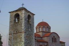 Ortodoksalny kościół w Stavros, Grecja Zdjęcie Royalty Free