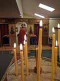 Ortodoksalny nabożeństwo kościelne Zdjęcie Royalty Free
