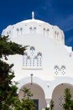 Ortodoksalny Wielkomiejski Katedralny Fira Santorini Grecja Fotografia Royalty Free