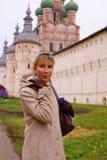 ortodoksyjna świątynna kobieta Zdjęcia Royalty Free