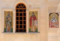 ortodoksyjna ikony kościelna grecka mozaika Obraz Royalty Free