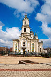 ortodoksyjny kościelny miasto Obrazy Royalty Free