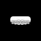 Ortodontycznych brasów bryły ikona Zdjęcia Royalty Free