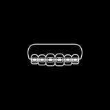 Ortodontycznych brasów kreskowa ikona Obraz Royalty Free