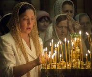 Ortodossi ucraini celebrano la trinità Fotografia Stock