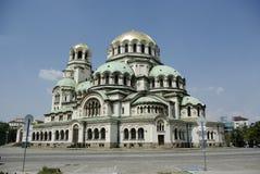 ortodox alexander kyrklig monumental nevski Arkivbild