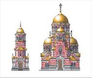 Ortodox castle. Vector illustration of ortodox castle vector illustration