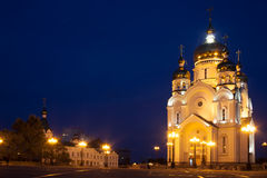 Ortodox cathedral in Khabarovsk, Russia Stock Image