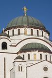 Ortodox Church. Orthodox temple  in Belgrade. White marble on walls Stock Photography