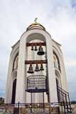 Ortodox church bendery. Moldova architecture bells Royalty Free Stock Image