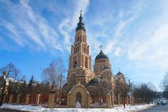 The church with blue sky. Royalty Free Stock Image