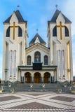 Ortodox church in Brasov stock photo
