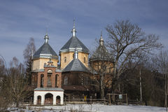 Ortodox church in Bystre royalty free stock images