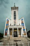 Ortodox church in Maramures , Romania Royalty Free Stock Photos