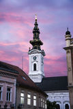 Ortodox church in Novi Sad Serbia at dawn Royalty Free Stock Photography