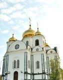 Ortodox church in Russia. Ortodox church in Krasnodar in south of Russia Royalty Free Stock Photography